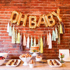 034-OH-BABY-034-Letter-Foil-Balloons-Baby-Shower-Party-Supplies-Inflation-DIY-Balloons