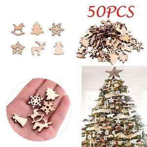 Ornamenti-in-Legno-Albero-di-Natale-Decorazione-Casa-impiccagioni-piccoli-ciondoli-forniture