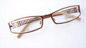 Braune Brille Damenfassung Gestell Schmuckbrille Schmal Designbügel Grösse M Spezieller Sommer Sale Sonnenbrillen & Zubehör Sonnenbrillen