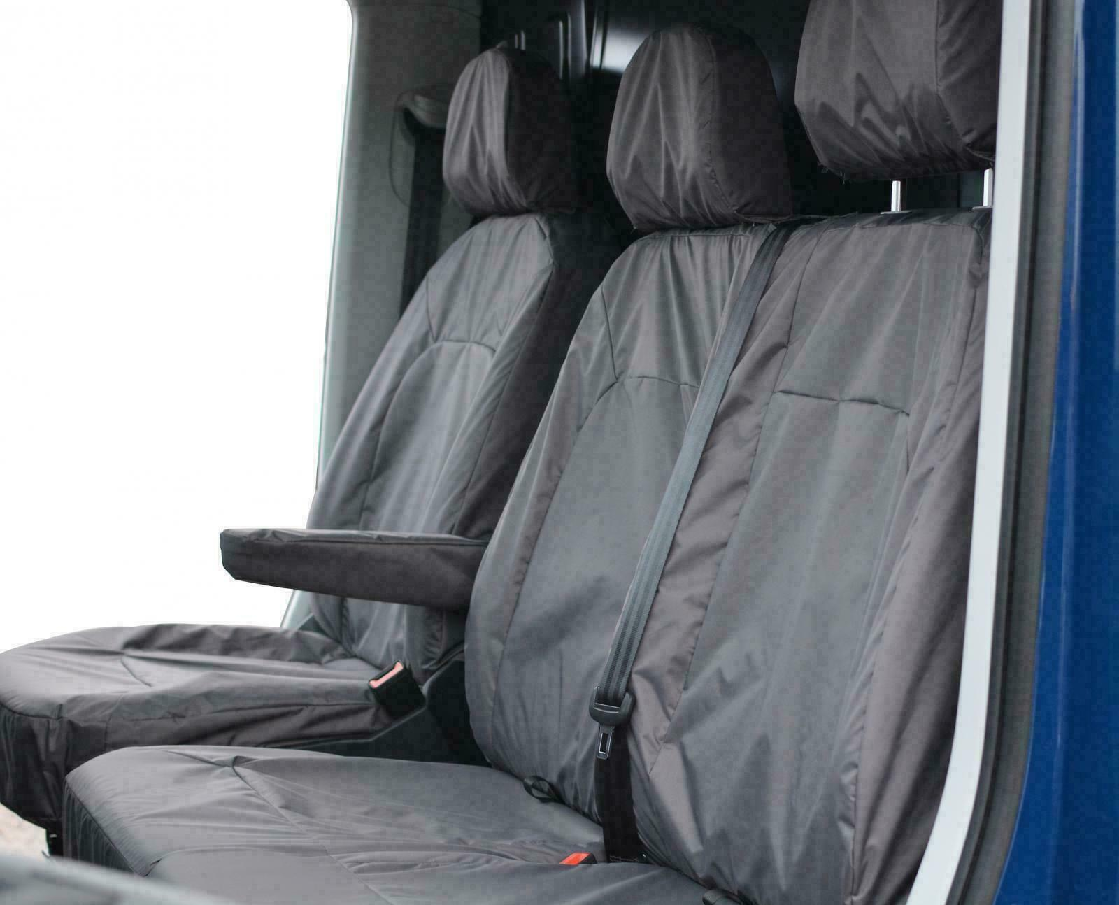 VW Transporter T5.1 Shuttle INKA Tailored Waterproof Seat Covers Black MY10-16