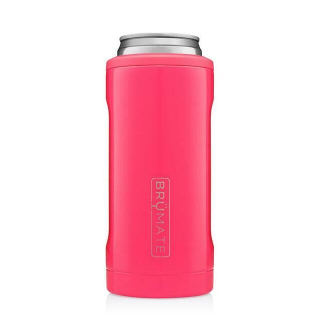 Brumate Hopsulator Slim Insulated Can Cooler Koozie Neon Pink