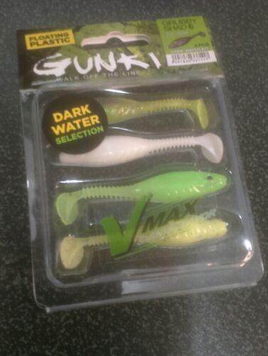"GUNKI Flottant GRUBBY SHAD 6 2.4/"" 6 cm Dark Water Kit Drop shot lures"