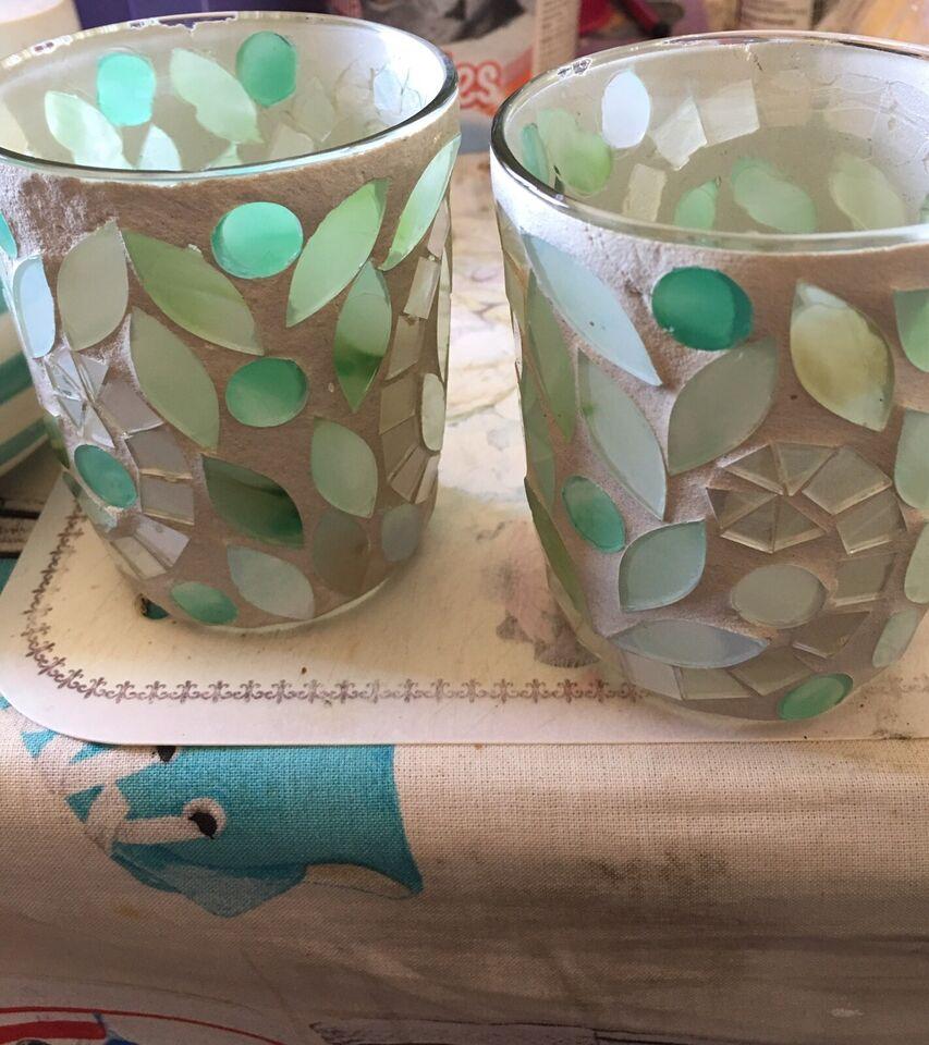 Fyrfads glas , PartyLite og firkløverm