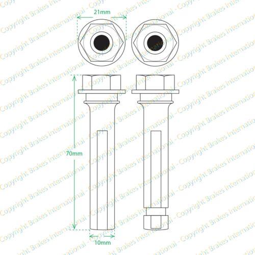 1997-2005 LEXUS GS300 FRONT BRAKE CALIPER SLIDER PINS GUIDE BOLT KIT BCF1341G