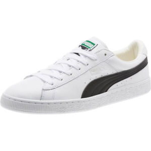 promo code fdaa4 f7a36 Details about Puma Men's Heritage Basket Classic WHITE/BLACK 354367-22