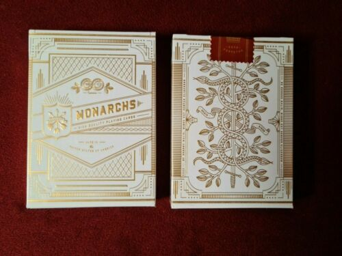 Theory11 White Monarch Playing Cards V2 Rare