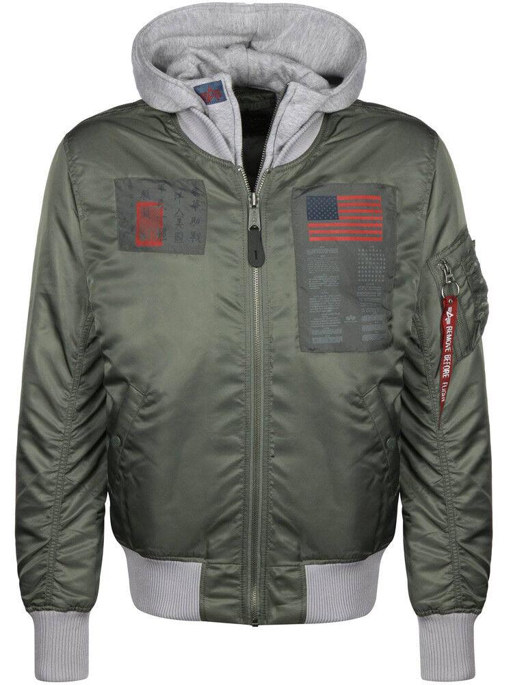 Alpha Industries D-TEC Blood Chit Bomber veste veste veste vintage vert/BNWT/ 615bee