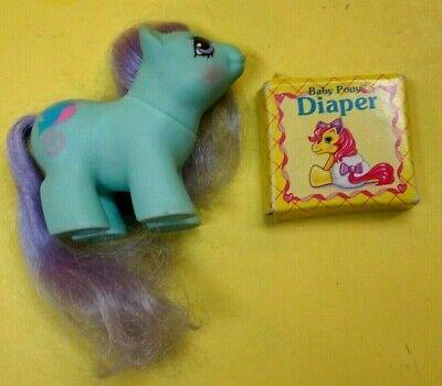 Vintage 1987 Hasbro My Little Pony Baby Newborn Twin Baby Peeks W/Diaper +  Box EBay