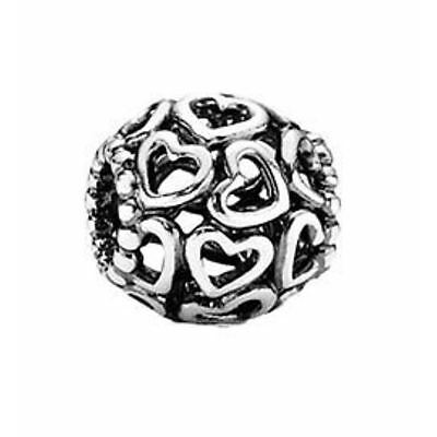 Pandora Open Your Heart bead 925 sterling silver ALE authentic MIB 790964