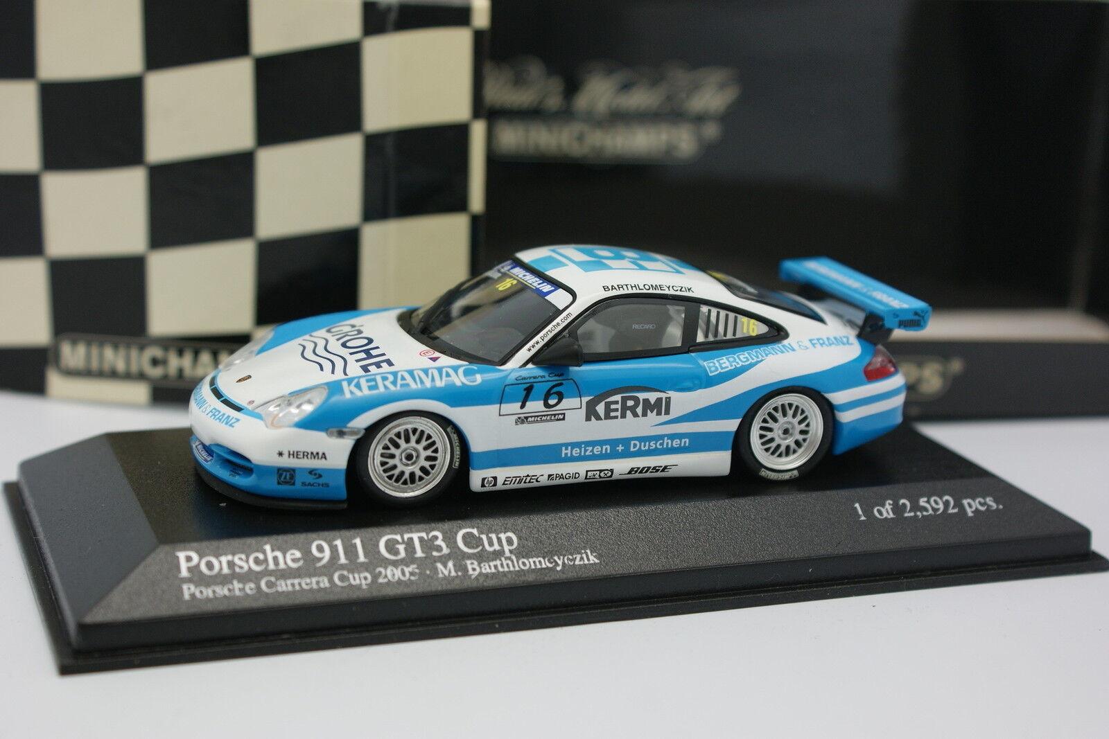 Minichamps 1 43 43 43 - Porsche 911 GT3 Cup Carrera Cup 2005 Nr.16 7b3891