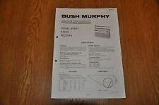 Vintage Service Manual. Bush / Murphy BV5651 AM / FM radio Receiver. TP1911