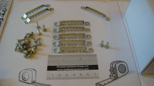 """FREE SAMPLE PACK 50 LARGE SAWTOOTH PICTURE FRAME HANGERS 100 # 6 1//2/"""" SCREWS"""