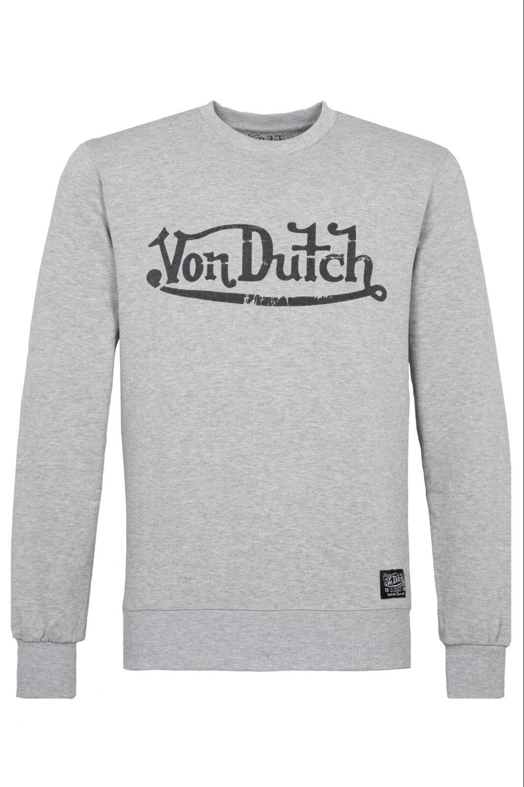 Von Dutch Logo Hoodie Sweatshirt Pullover Sweater Grau SALE
