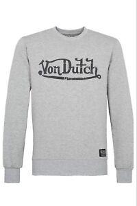 Von-Dutch-logotipo-Hoodie-sudadera-sueter-sweater-gris-sale
