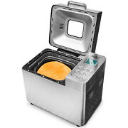 Deco Chef 2 LB Stainless Steel Bread Maker with 25 Smart Cooking Programs and Ac