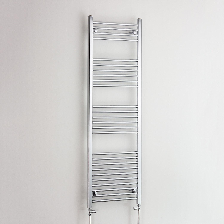1600 X 500 Chrome Sèche-serviettes Radiateur Plat Courbé électrique & Gaz salle de bain