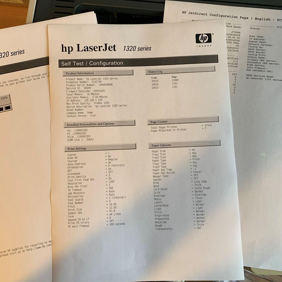 Laserprinter, HP , 1320