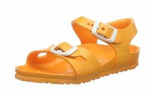 Details zu Birkenstock Mädchen Sandalen Rio in Neon Orange EVA in Gr.26 , schmal