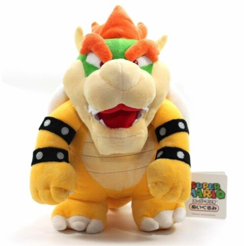 "Plush Bowser Koopa Soft Toy Stuffed Animal Teddy Doll 10/"" New Super Mario Bros"