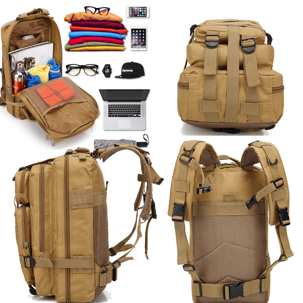 Outside Military Tactical Backpack Rucksack Camping Bag Travel Hiking ... - s l1600