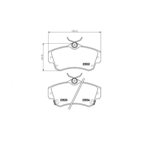Textar Bremsbeläge vorne Chrysler PT Cruiser Cabriolet 1,6-2,4 CRD GT