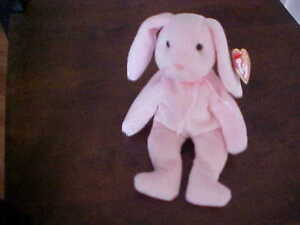 HOPPITY the Bunny Rabbit - TY Beanie Baby  **Mint Condition**