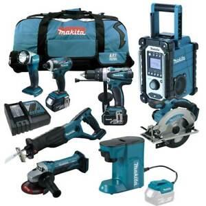 MAKITA-18V-Akku-Profi-Werkzeug-Set-DCM500-Z-Akku-Kaffeemaschine-RFE-RMJ