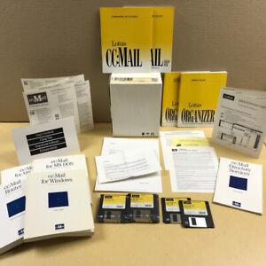 LOTUS ccMAIL in original box diskettes, manuals Windows RARE FIND collector