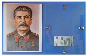 STALIN-medaglia-stella-rossa-Russia-URSS-Comunismo-quadro-cornice-vetro-cm-30x24