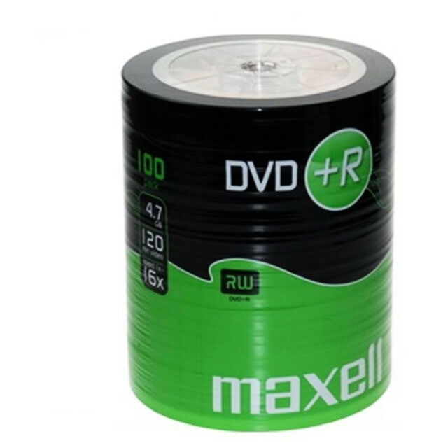 MAXELL DVD+R Blank Recordable Digital Disc DVDR 4.7GB 16x SPEED 120mins 100 Pack