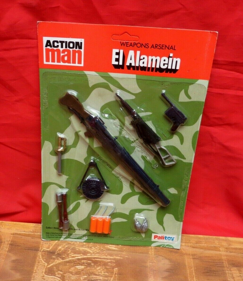 1964 VINTAGE GI JOE JOEZETA ACTION MAN PALITOY WEAPONS ARSENAL EL ALAMEIN MOC