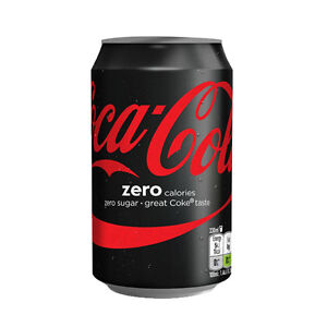 coca cola coke zero 330ml zero calories zero sugar cans drinks trays of 24 ebay. Black Bedroom Furniture Sets. Home Design Ideas
