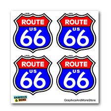 Route 66 Highway Road Sign - Set of 4 - Window Bumper Laptop Stickers