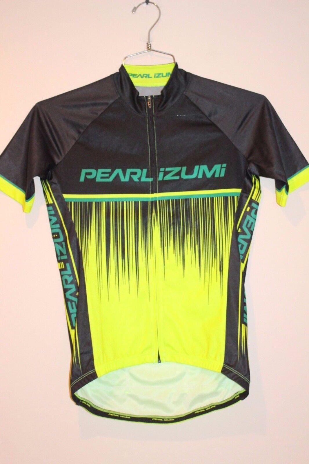 Pearl Izumi Elite Pursuit LTD Men's Jersey Size MEDIUM NEON BLK 11121604  NEW