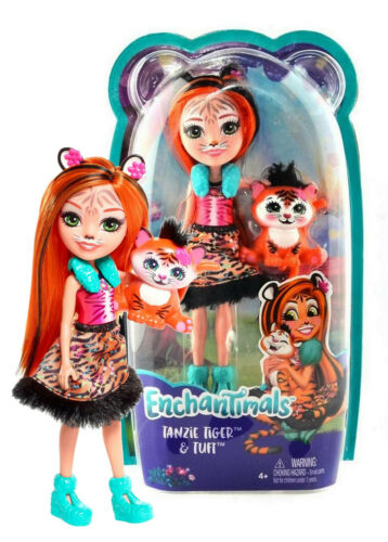 """Enchantimals Tanzie Tiger /& Tuft 6/"""" Doll New in Package"""