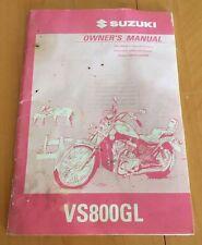 1997 SUZUKI VS800GL INTRUDER 800 MOTORCYCLE OWNERS MANUAL-VS 800 GL-SUZUKI-VS800