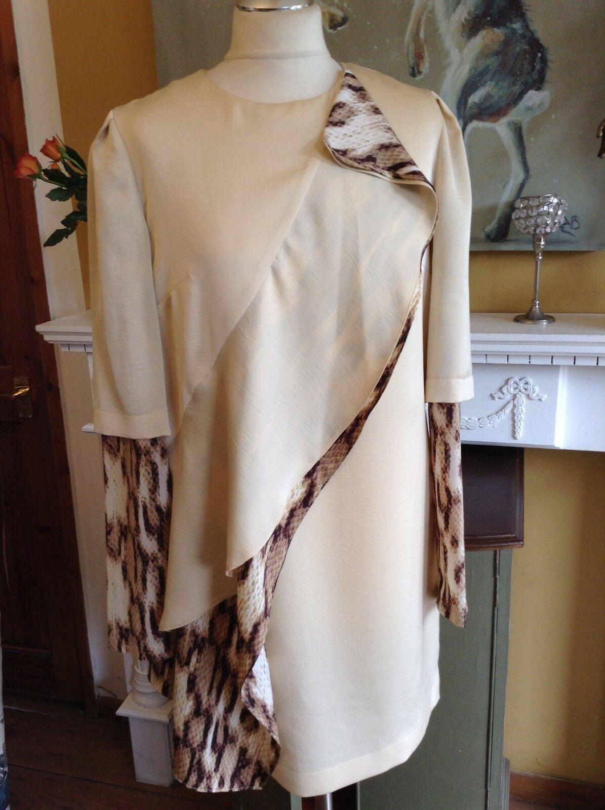 finest selection 0889e e871c BNWT ROBERTO JUST CAVALLI ABITO DRESS LAYERED LEOPARD BNWT CERTILOGO 42 12  UK