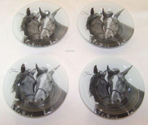 4 Stück Hochwertige Glasschale Pferd Pferdeliebe Schale von Mario Moreno Pferde