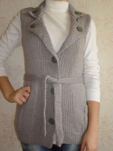 Ny Sweater Strikket Uld Russisk Håndlavet Kvinder Vest qYxtH0