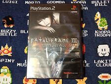 Fatal Frame III The Tormented BRAND NEW SEALED  (Sony PlayStation 2, 2005)