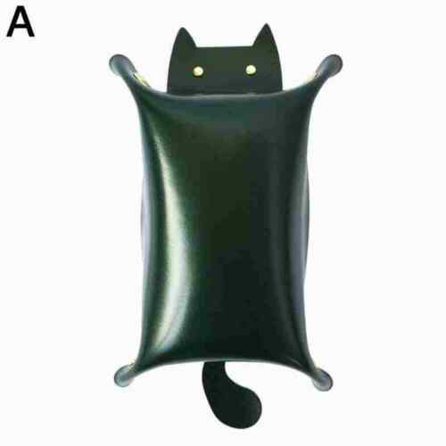 Cat Shaped Storage Tray Bedside For Jewelry Home Entryway PU Dice Box x 1