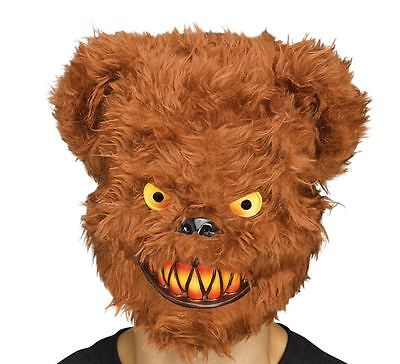 Adulti Zombie Killer Critter Orso MALEFICO HORROR Halloween Fancy Dress Maschera