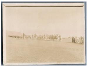 Algerie-Officiers-francais-et-cavaliers-arabes-Vintage-citrate-print-Tirag