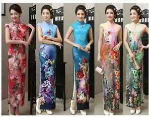Charming Chinese women's Fancy long evening dress Cheongsam Qipao size S----XXL