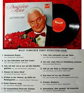 LP-Willy-Schneider-Dunkelrote-Rosen-Polydor-HiFi-46-778-D-1963