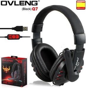 Cascos auriculares con micrófono gaming para pc cable usb OVLENG Q7