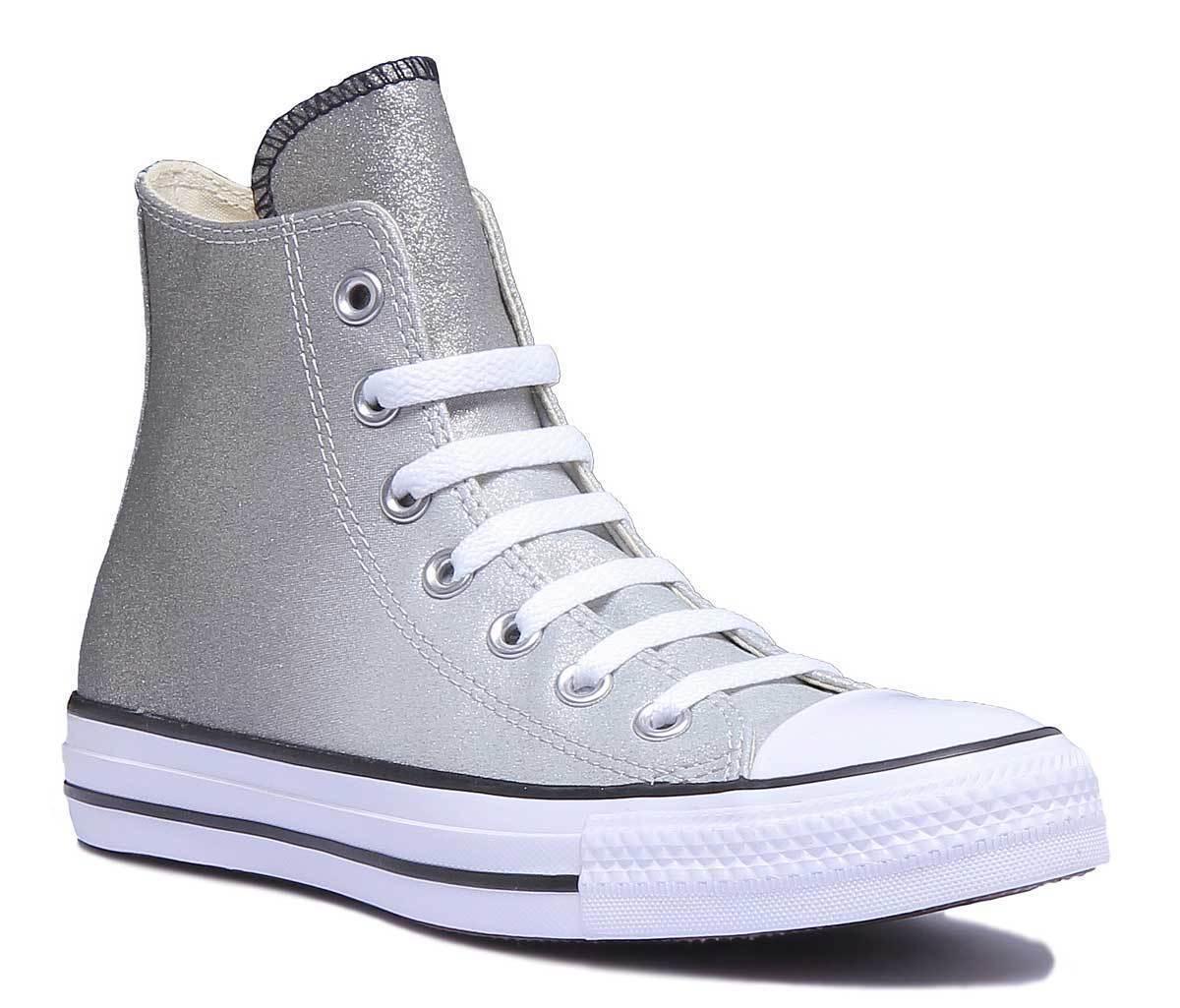 Converse 159523C 159523C 159523C Damenschuhe Silver Other Fabric Trainer Größe UK 3 - 8 6114d2