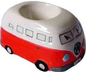 Red-VW-Kombi-Camper-Van-Egg-Cup-Holder-Ceramic-Volkswagen-Collectible