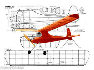 Details about Model Airplane Plans 21 1/2