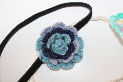 NEU Haarbänder türkis blau Neugeborenen Fotografie Baby /& Blumen-Mädchen Z2